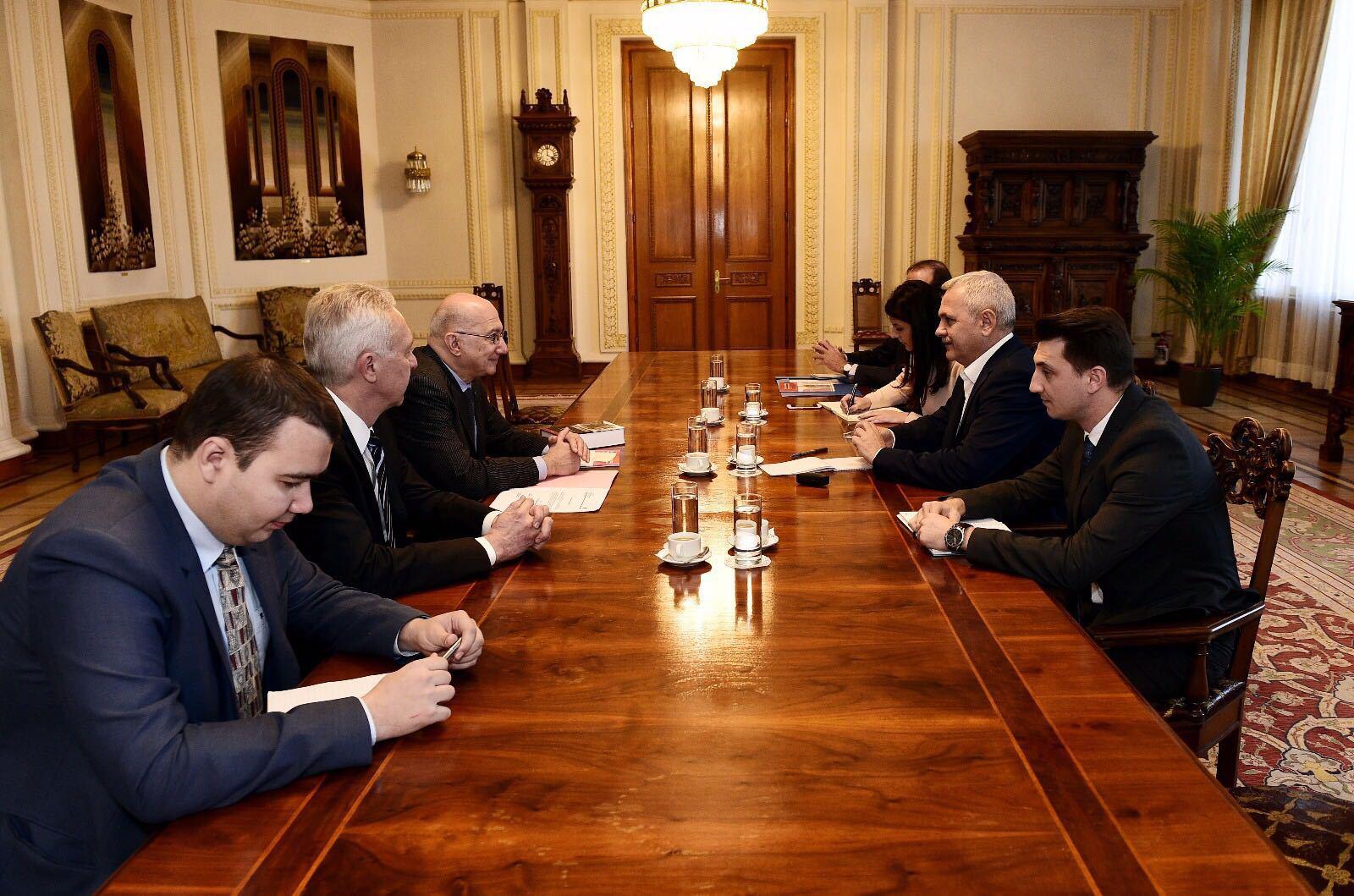 Liviu Dragnea, întâlnire la biroul său cu ambasadorul SUA