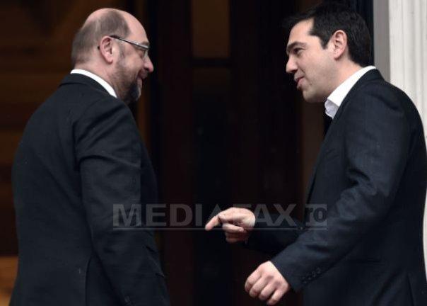 Martin Schulz, dupa �nt�lnirea cu Alexis Tsipras: Grecia este deschisa discutiilor cu partenerii UE