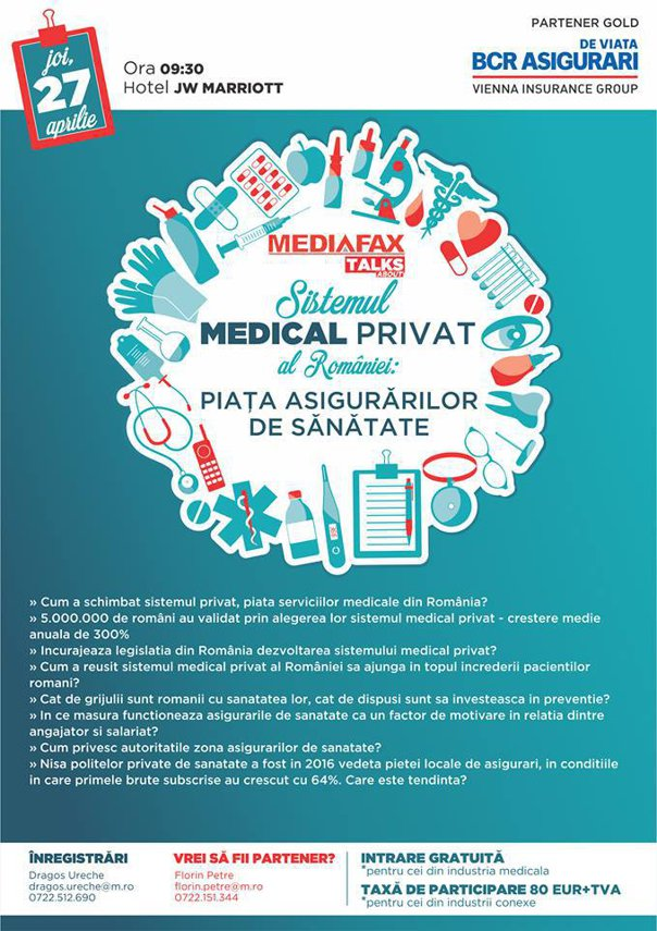 Imaginea articolului MEDIAFAX TALKS: Asigurările private de sănătate asigură doar 1% din piaţă/ Experţi: Preţul unic ar ajuta mulţi cetăţeni - VIDEO