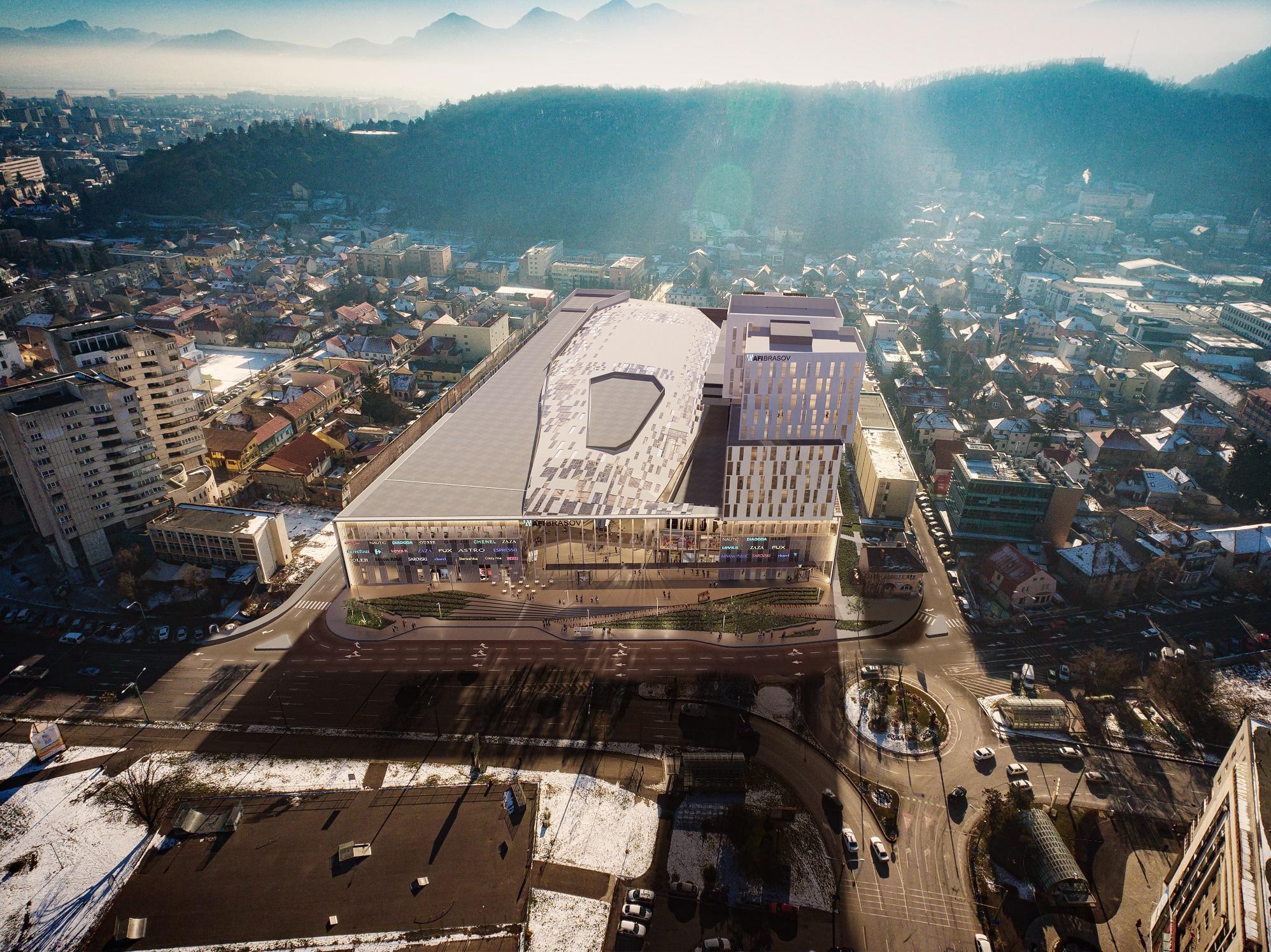 FOTO | Cum arată noul mall de dimensiuni impresionante care se construieşte la Braşov. Grupul israelian AFI Europe a pus piatra de temelie