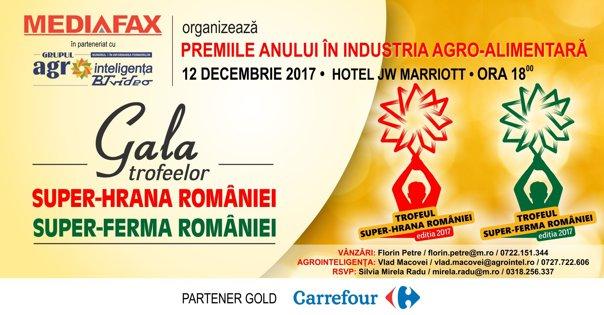 Imaginea articolului Eveniment Mediafax: Gala Trofeelor Super-Ferma României şi Super-Hrana României