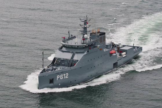Imaginea articolului (P) Şantierul Naval Damen Galaţi livrează cea de-a treia navă de suport logistic pentru Ministerul Apărării din Tunisia