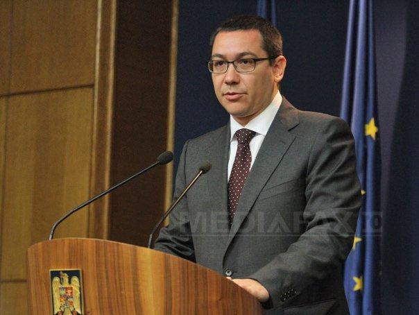 Ponta: Sper sa nu fie nevoie de un mare conflict pentru a redescoperi unificarea interna a Rom�niei