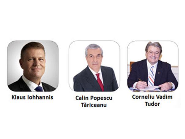 ANALIZĂ Mediafax Monitorizare: Prezidentiabilii Iohannis, Tariceanu si Corneliu Vadim Tudor au crescut ca mediatizare