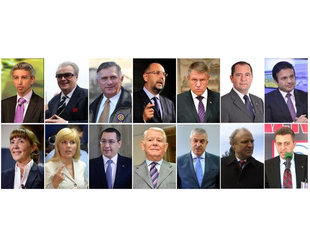 ALEGERI PREZIDENŢIALE: 14 aspiranti si o premiera, candidatura a doua femei. Meseriile, averea si v�rsta candidatilor