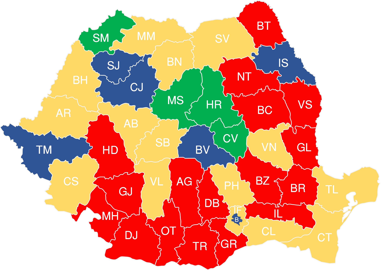 Harta Votului Pe Judeţe Unde A Castigat Usr Si Care Sunt