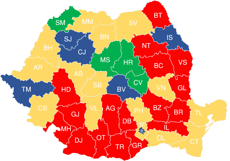 Harta Romania Pe Judete