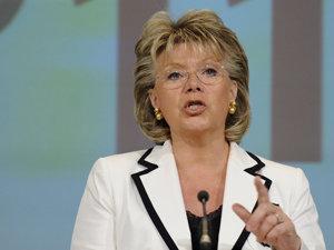 Viviane Reding, comisarul european pentru Societate Informaţională (Imagine: Mediafax Foto/AFP)