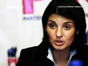 Lavinia Şandru, noul preşedinte al PIN (Imagine: Mediafax Foto)