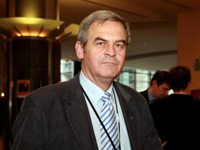 László Tőkés MEP in Brussels