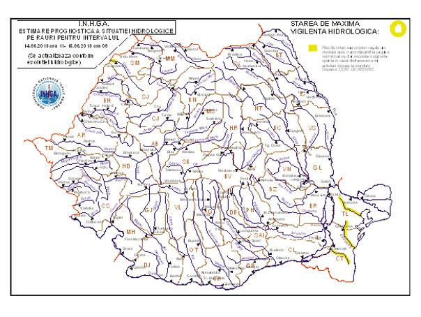Codul Galben De Inundaţii Prelungit Harta Zonelor Afectate