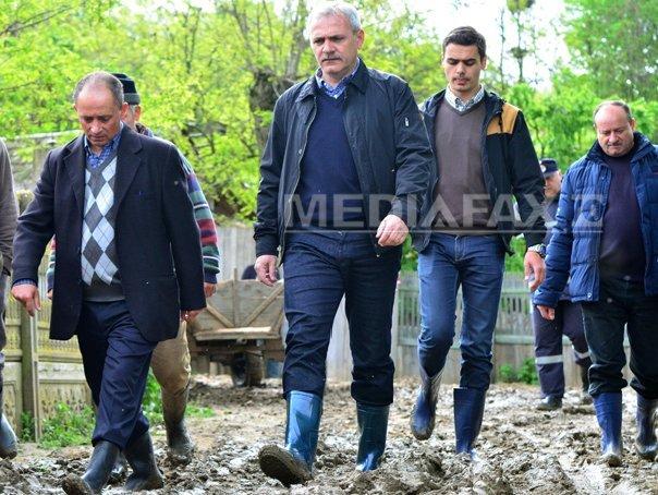 Dragnea: Principala solicitare a oamenilor din zonele inundate, finalizarea unor diguri si poduri