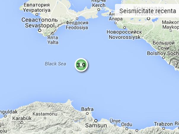 Cutremur de 3,9 grade �n Marea Neagra