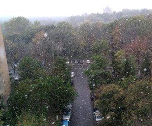Cum a arătat prima ninsoare din acest sezon din Capitală - FOTO