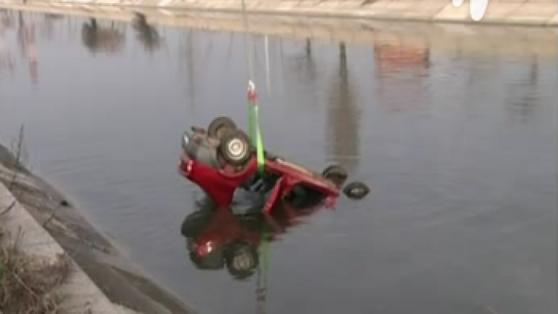 Imaginea articolului O maşină a căzut în râul Dâmboviţa. O persoană a murit