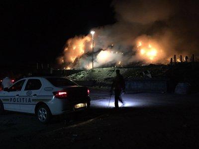 CLUJ: Incendiu puternic la o rampă temporară de deşeuri, în zona Pata Rât - GALERIE FOTO