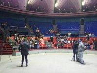 Imaginea articolului FOTO Protest al angajaţilor Circului Globus care nu vor demiterea directorului/ Firea: Am primit ameninţări de la managerul circului; E caz patologic