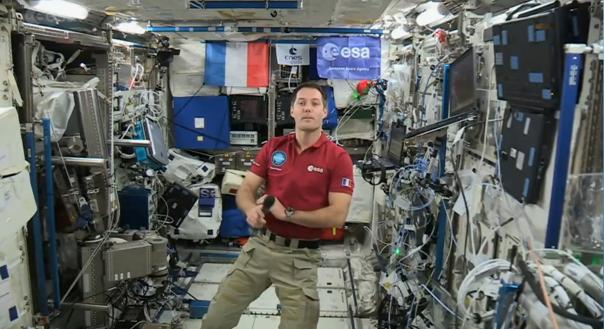 Imaginea articolului Un astronaut aflat la bordul Staţiei Spaţiale Internaţionale a vorbit cu profesori din Timişoara