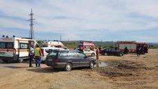 Imaginea articolului FOTO Cinci persoane, rănite în urma unui accident rutier, pe şoseaua de centură a municipiului Alba Iulia
