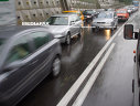 Imaginea articolului Ploaia torenţială îngreunează traficul pe Autostrada Soarelui