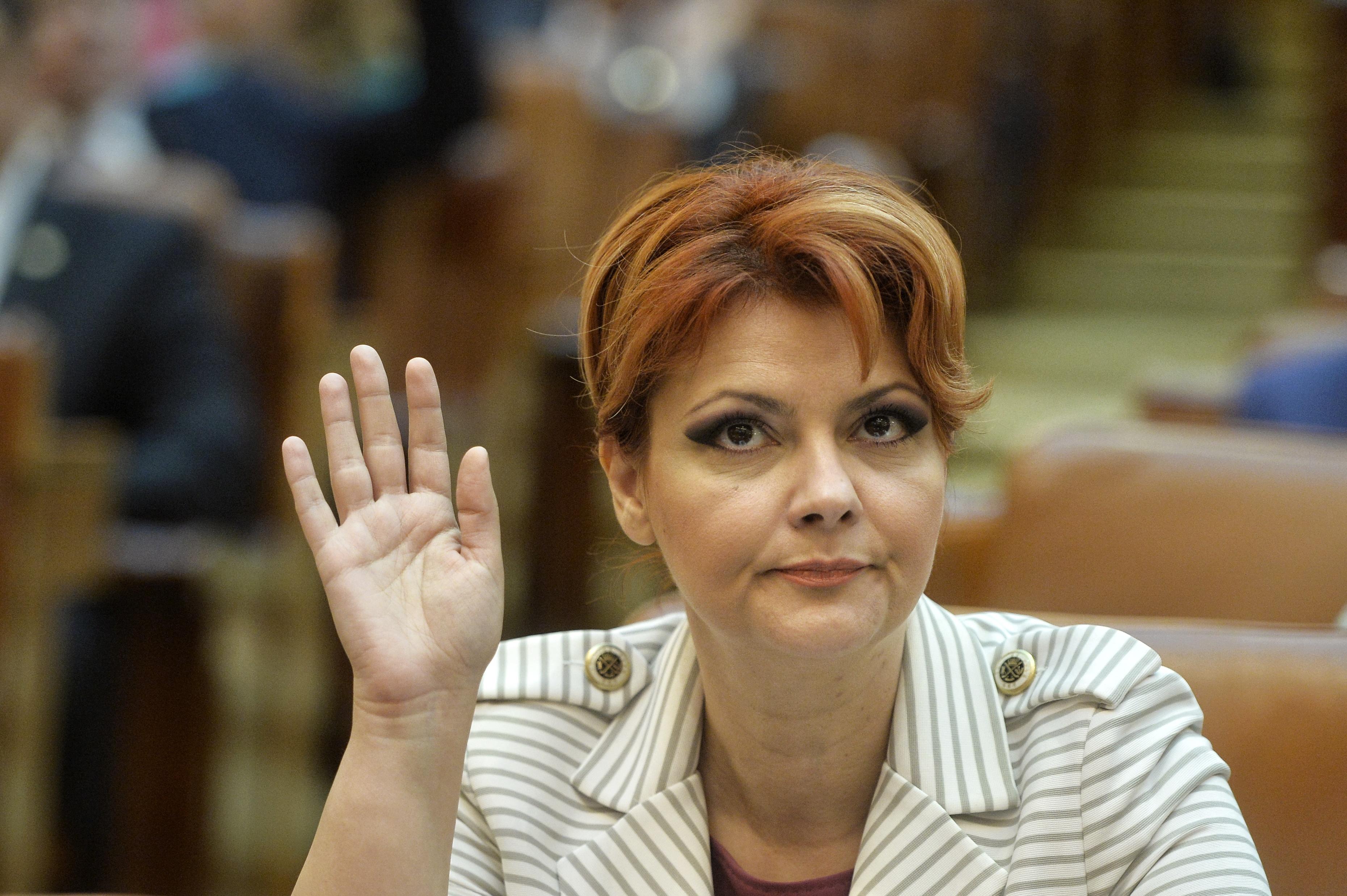 Lia Olguţa Vasilescu, ministrul Muncii: O firmă care tipăreşte tichete de masă e controlată de un lider sindical