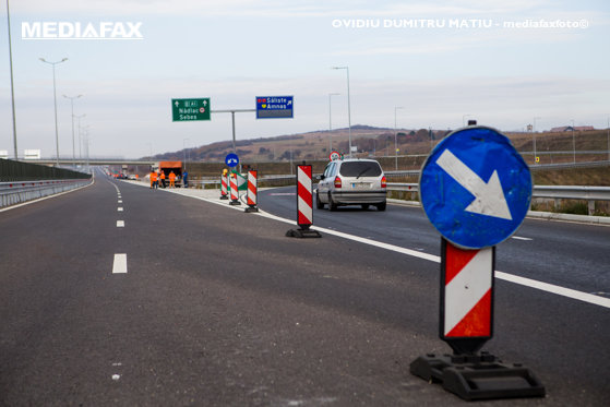 Imaginea articolului ALERTĂ | Circulaţie afectată pe o bandă a Autostrăzii A3 Câmpia Turzii – Gilău, unde se fac lucrări la partea carosabilă