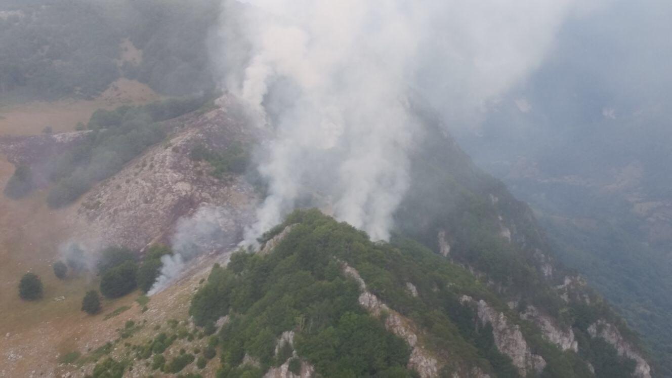 Un nou incendiu a izbucnit în Parcul Domogled, în aceeaşi zonă ca cel din iulie