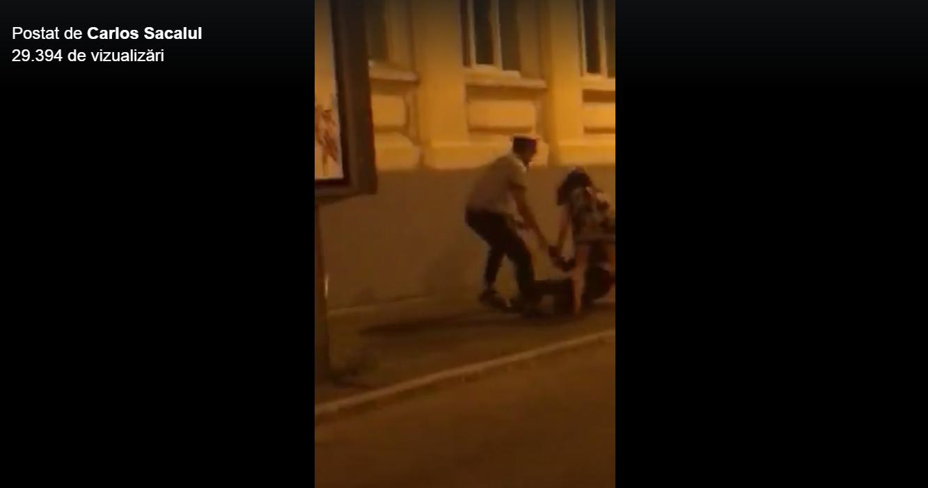 IMAGINILE ZILEI Un nou scandal cu poliţişti în trafic: Medicul Adrian Cristescu a fost târât pe stradă. IGPR face anchetă