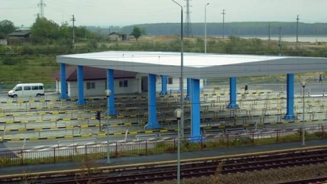 Staţia de taxare de pe podul Giurgeni - Vadu Oii, prădată de hoţi