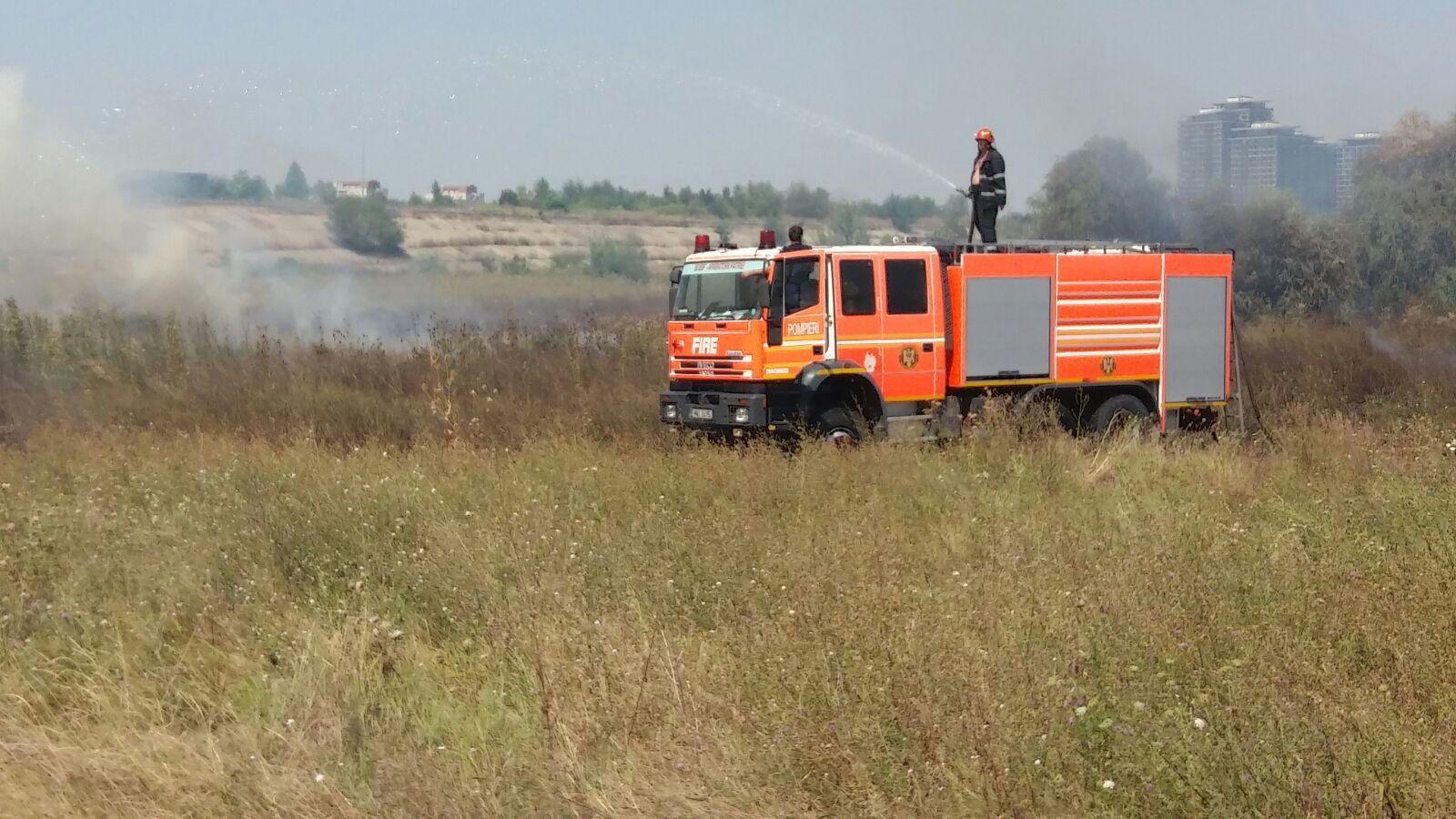 FOTO | INCENDIU de vegetaţie în Delta Văcăreşti din Capitală