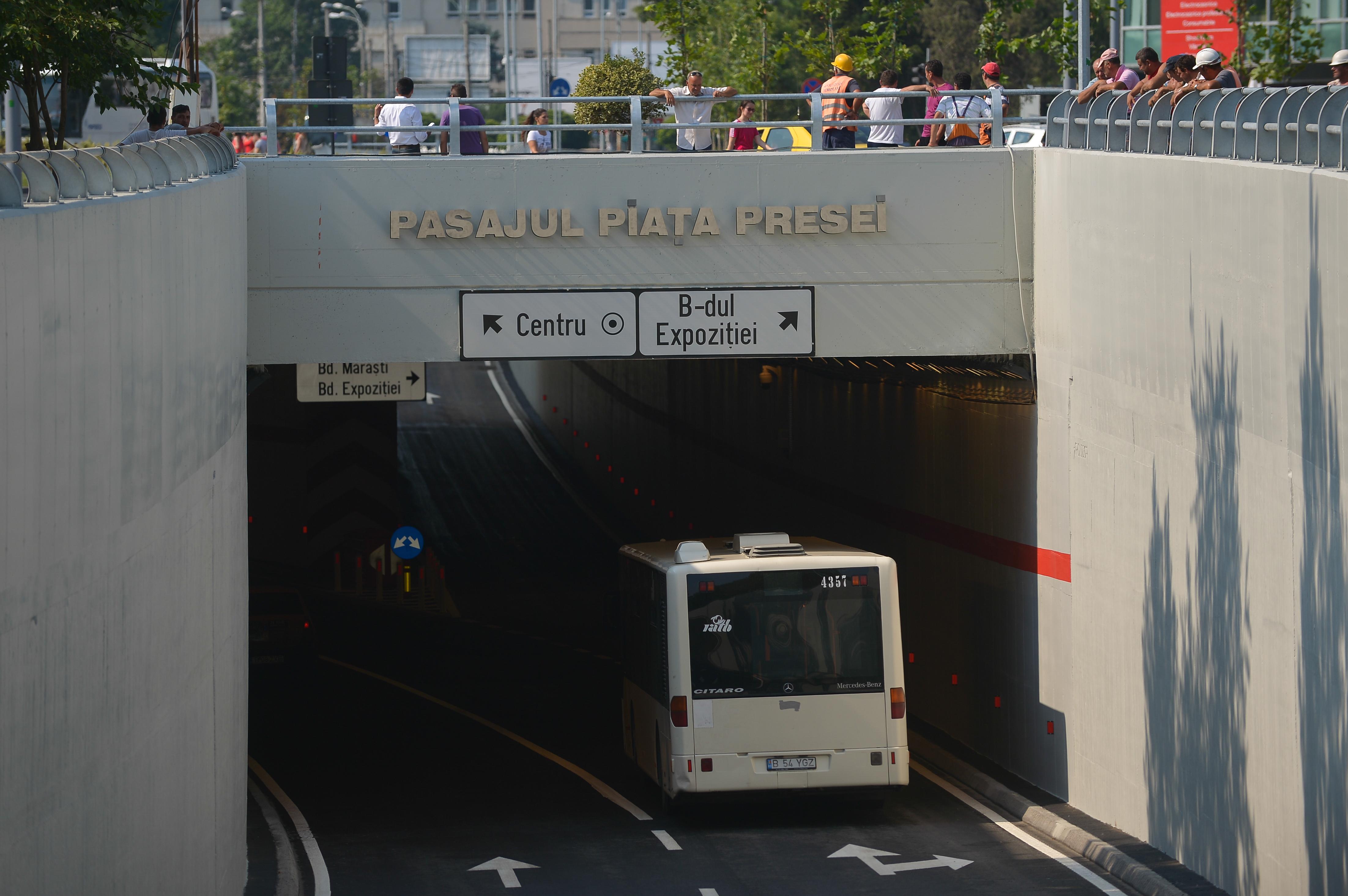 Pasajul de la Piaţa Presei din Capitală va fi închis în noaptea de vineri spre sâmbătă