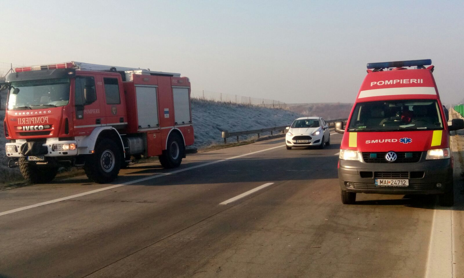 Accident rutier cu cinci maşini în Şindriliţa, Ilfov. Două persoane au murit