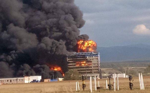 INCENDIUL din Orăştie: Fauna unui pârâu, distrusă de poluarea rezultată după explozia de la fabrica de vopsele