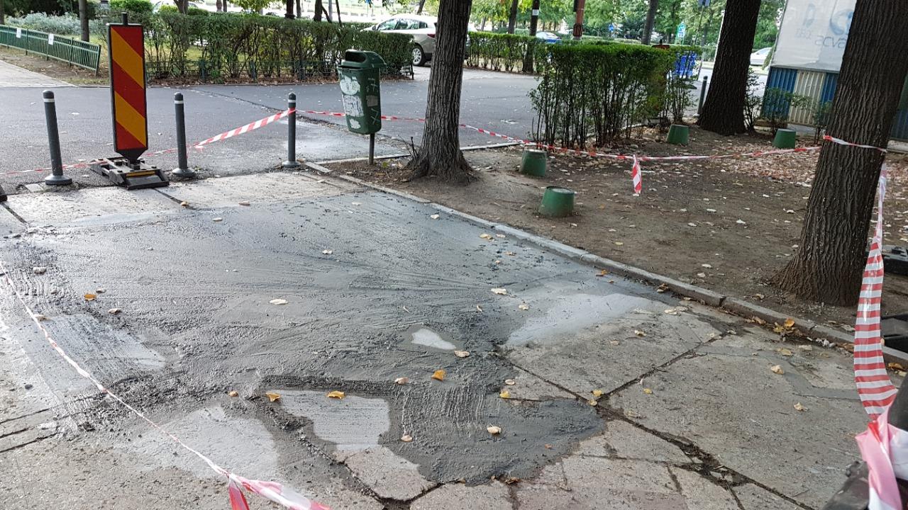 Cum se lucrează într-o `Capitală Europeană Smart`: Un bulevard considerat a fi monument istoric este distrus sistematic, iar mozaicul este înlocuit de beton turnat haotic
