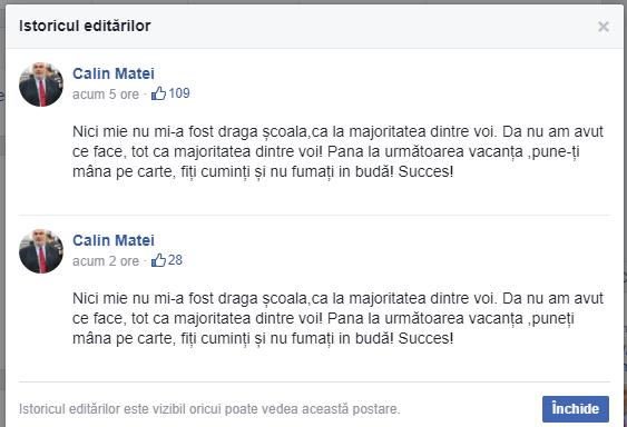 Deputatul PSD care îndemna elevii să `nu fumeze în budă` transmite că mesajul său a fost înţeles greşit