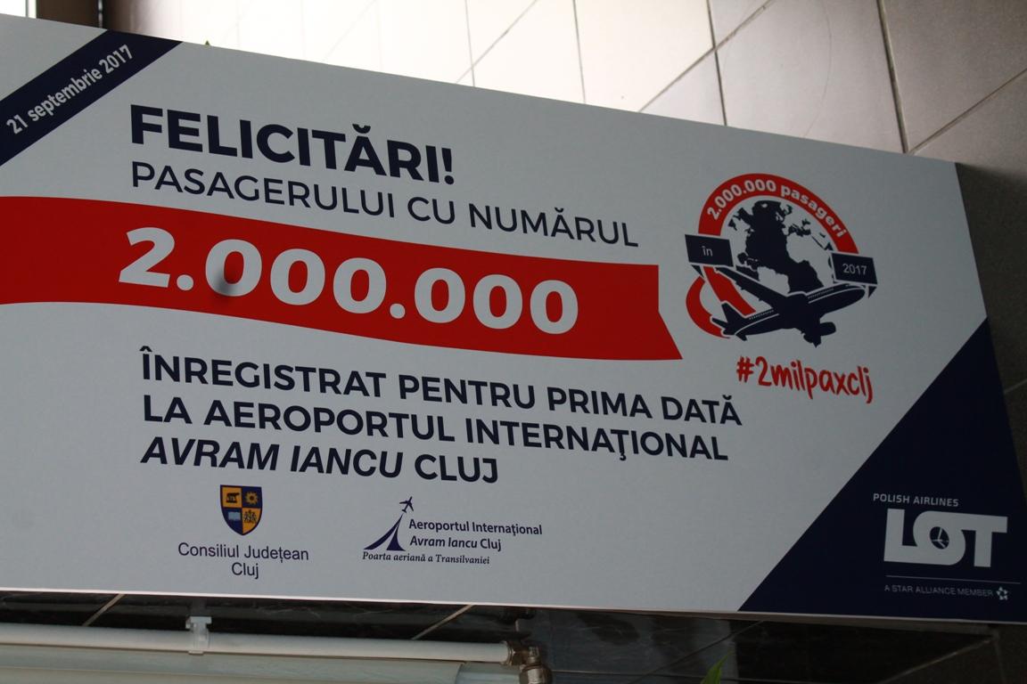 Record de trafic aerian: Aeroportul din Cluj, tranzitat de două milioane de pasageri