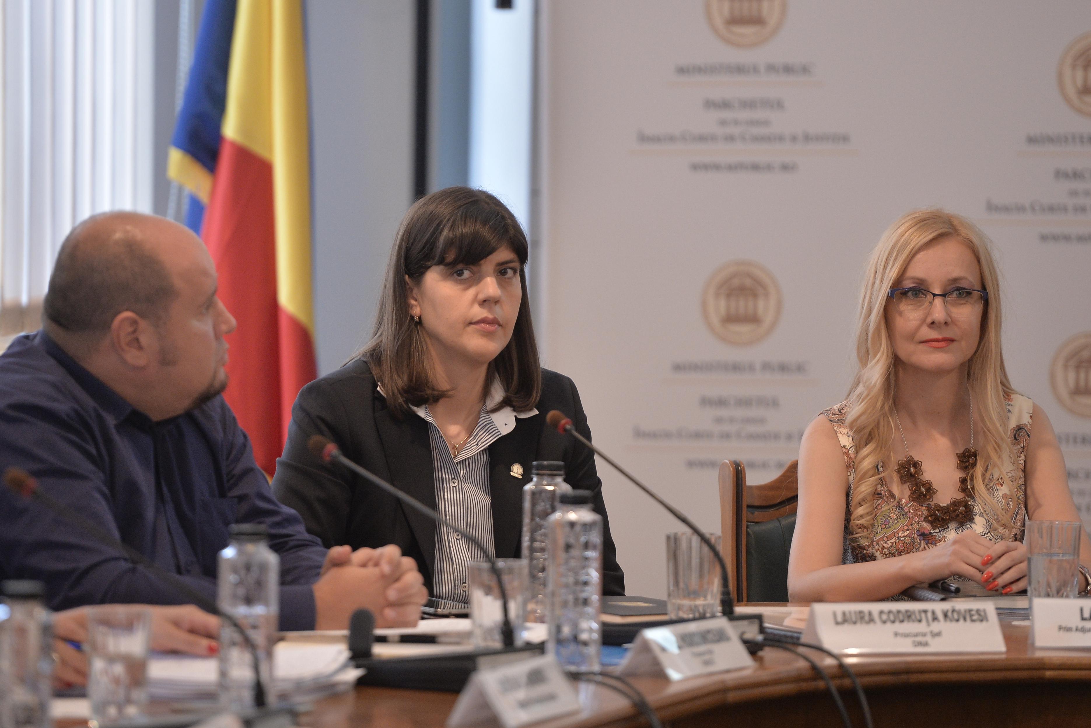 Laura Codruţa Kovesi şi alţi doi procurori din DNA, cercetaţi disciplinar de Inspecţia Judiciară în cazul revocărilor Mihaelei Iorga şi a lui Doru Ţuluş
