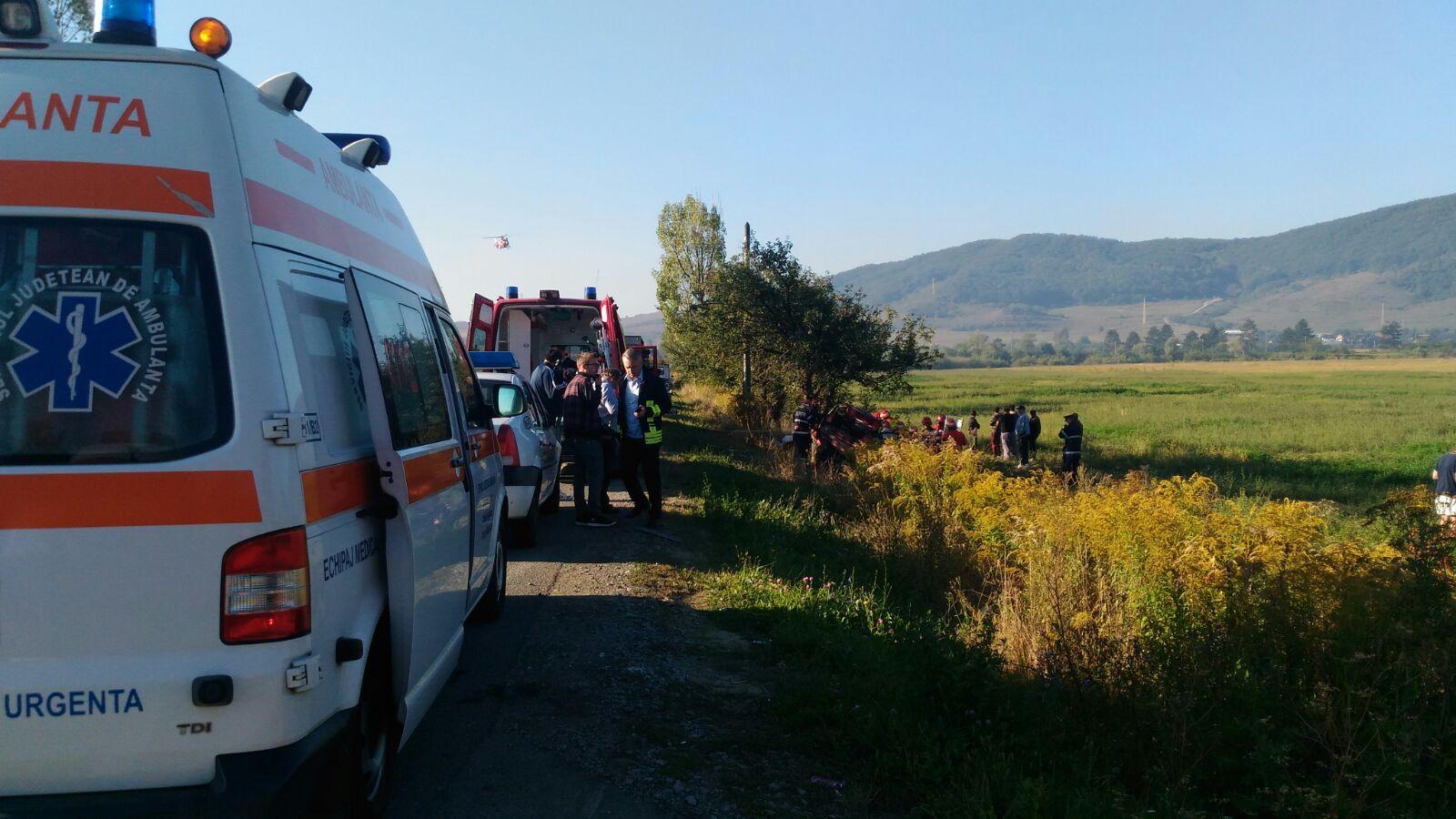 Accident în Sălaj: Nouă persoane au fost rănite în urma coliziunii frontale dintre două autoturisme