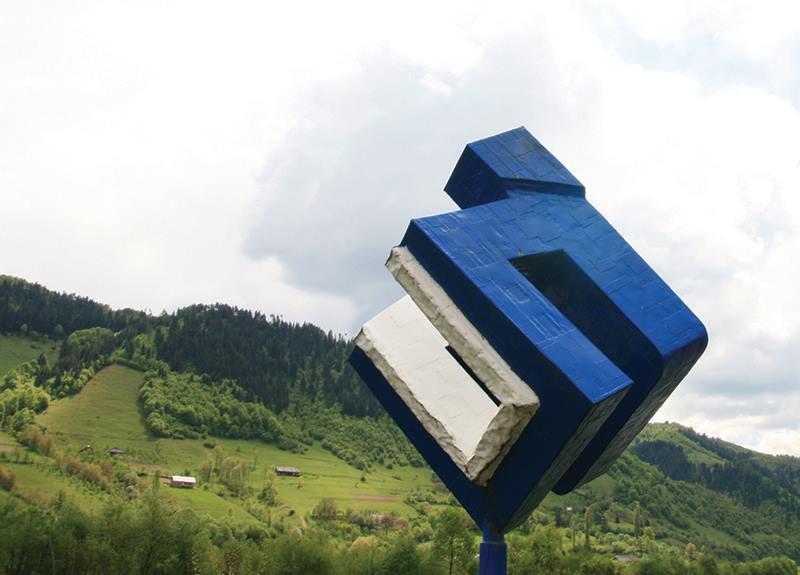 `Veriga` lipsă. Primarul din Sîngeorz-Băi a tăiat o sculptură a artistul Maxim Dumitraş şi a dus-o la fier vechi   FOTO
