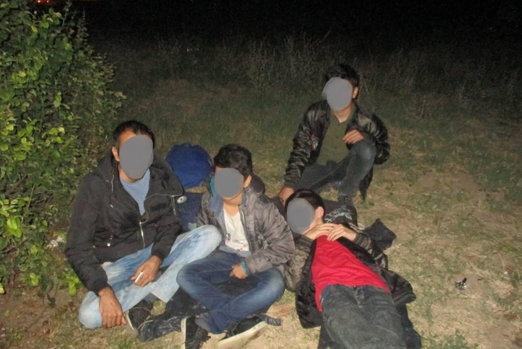 Cincisprezece migranţi, printre care şase copii, găsiţi de poliţişti pe o stradă din Timişoara - FOTO