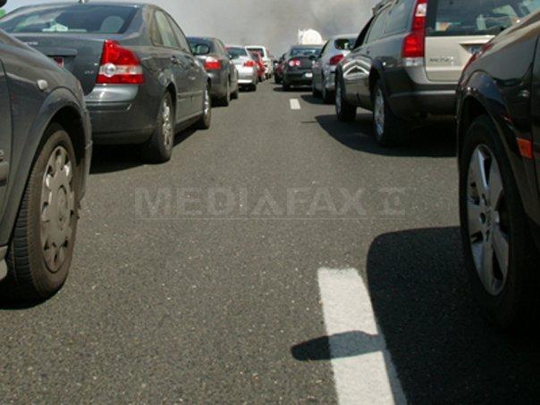 Aglomeraţie pe Autostrada Bucureşti - Piteşti, sensul către Capitală