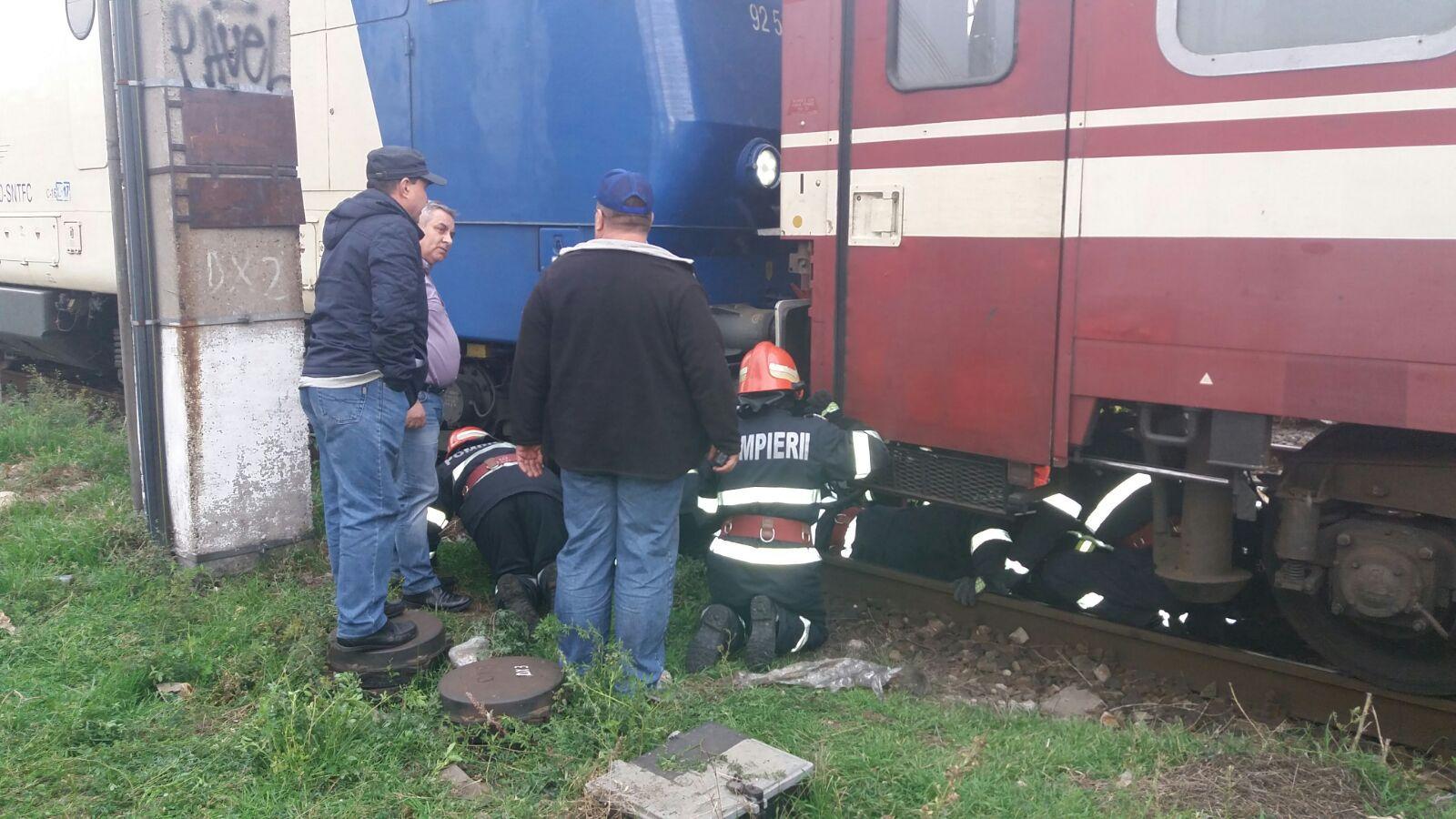 Un bărbat a fost lovit de tren în Gara Basarab - FOTO