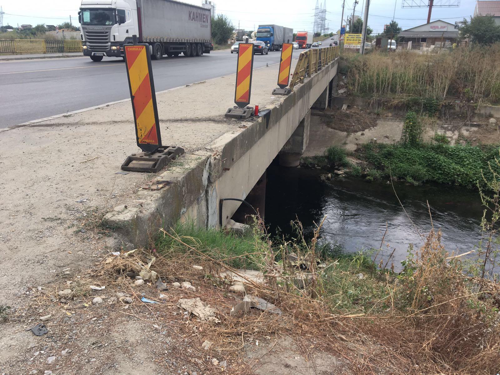 Doi oameni au murit după ce maşina în care se aflau a plonjat 10 metri de pe un pod