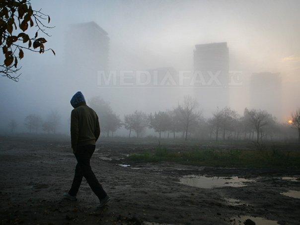 Cod galben de ceaţă în Bucureşti şi patru judeţe