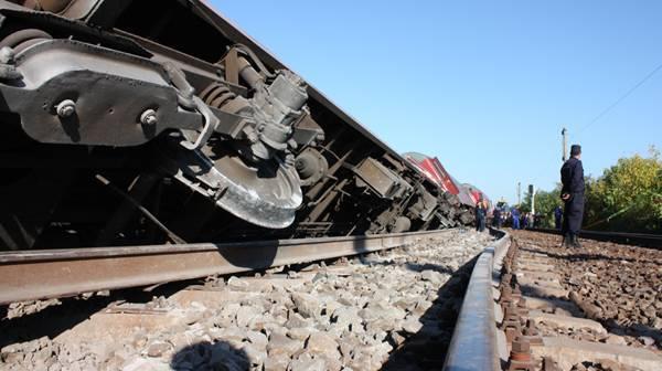 Circulaţia feroviară, blocată pe ruta Călăraşi - Ciulniţa, unde a deraiat un tren