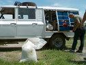 Imaginea articolului Camion încărcat cu 42 tone de azotat de amoniu răsturnat, circulaţia închisă pe DN2C, jud. Buzău