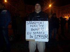 Imaginea articolului Proteste la Sibiu şi Timişoara faţă de adoptarea Legilor justiţiei: Nu suntem o naţie de hoţi - FOTO, VIDEO