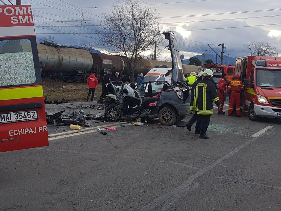 Imagini dramatice în judeţul Braşov. Patru morţi, în urma unui cumplit accident | VIDEO