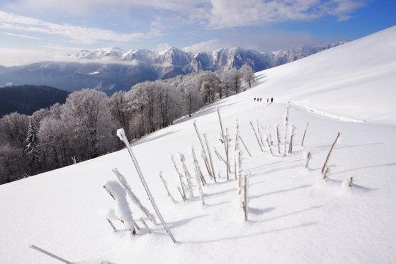 Imaginea articolului Risc de producere a avalanşelor în Munţii Bucegi şi Făgăraş. La Bâlea Lac şi Vârful Omu zăpada are aproape un metru. Vremea se va răci accentuat şi va ninge