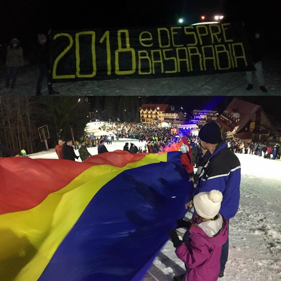 Uniţi de TRICOLOR. Un steag românesc a fost întins peste malurile Prutului | VIDEO